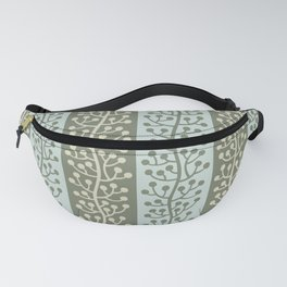 Mid Century Modern Berry Vine Sage and Mint Green Fanny Pack