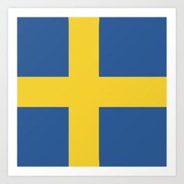 Sweden flag emblem Art Print