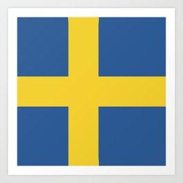 Sweden flag emblem Art Print
