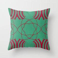 Colliding Throw Pillow