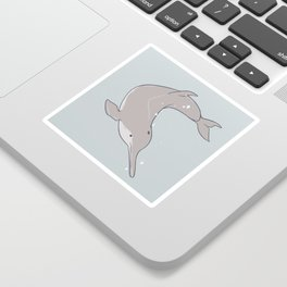 Baiji Dolphin Sticker