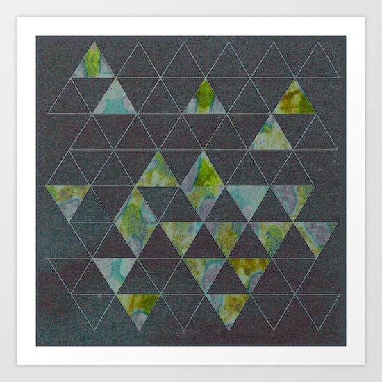 Reverse Triangles Art Print