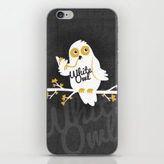 White Owl iPhone & iPod Skin
