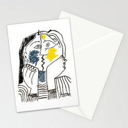 Pablo Picasso Kiss 1979 Artwork Reproduction For TShirts, Framed Prints Stationery Cards