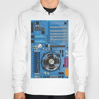 computer Hoodies featuring Computer Motherboard by Nick's Emporium Gallery