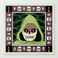 death Canvas Prints featuring Death  by Jack Teagle