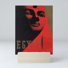 Vintage Travel Poster - Egypt For Winter Sunshine Mini Art Print