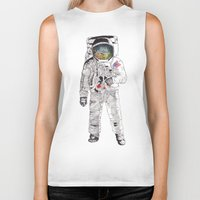 astronaut Biker Tanks featuring Astronaut by James White
