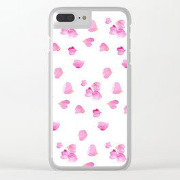 Rose Petals Clear iPhone Case