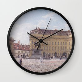 The Josef Square In Vienna 1831 by Rudolf von Alt   Reproduction Wall Clock