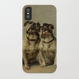 Earl,Maud   (1864-1943) -The Power of the Dog Bulldog iPhone Case