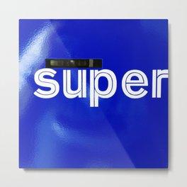 Triptych – Super Sans Ole – West Metal Print