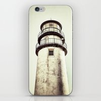 cape cod iPhone & iPod Skins featuring cape cod lighthouse by marie grady palcic