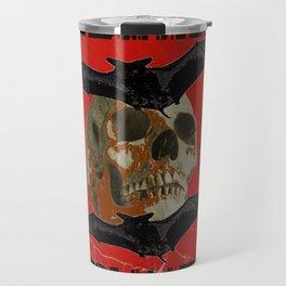 GRUNGY HALLOWEEN BAT INFESTED HAUNTED SKULL Travel Mug