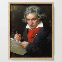 Ludwig van Beethoven (1770-1827) by Joseph Karl Stieler, 1820 Serving Tray