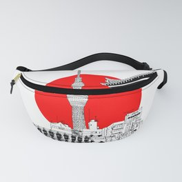 tokyo skytree red dot 1 Fanny Pack