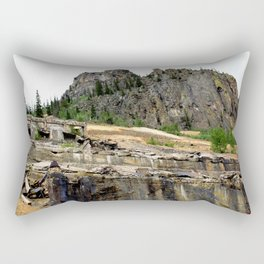 At the Base of the Eureka Gold Mine, on the Animas River Rectangular Pillow