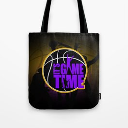 It's Game Time - Purple & Gold Tote Bag