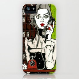 Evelyn Couteau - Hotel Cerk - Gothic Beauty iPhone Case