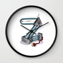 MACHINE LETTERS - Z Wall Clock