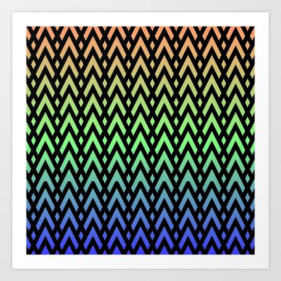 Chevons and Diamonds II Art Print