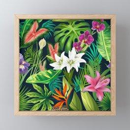 Tropical Lush Sanctuary, A Bohemian Paradise Framed Mini Art Print