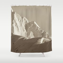 Alaskan Mts. - Mono I Shower Curtain