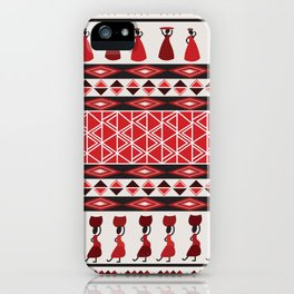 African Tribal Pattern No. 85 iPhone Case