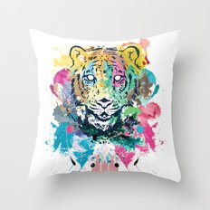 Tiger Splash Throw Pillow