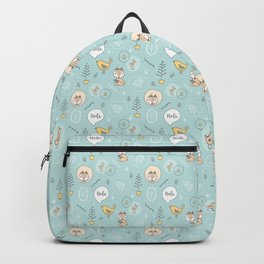 Fox and Bird doodle Backpack