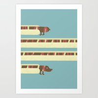 hot dog Art Prints featuring Hot Dog by Liam Smith