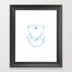 piggy 15 Framed Art Print