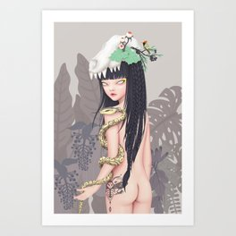 wild princess Art Print