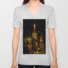 Moscow Night Unisex V-Neck