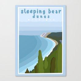 Sleeping bear dunes Michigan  Canvas Print