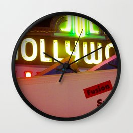 Hollywood Neon Wall Clock