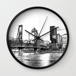 portland skyline Wall Clock