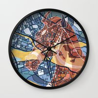 stockholm Wall Clocks featuring STOCKHOLM by C. Reeder