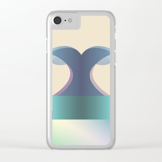 I wave letter Clear iPhone Case