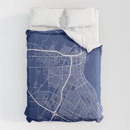 Corpus Christi Map, USA - Blue Comforters
