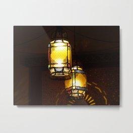 Moroccan Lamps Metal Print