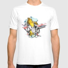 Speed Date | Collage White MEDIUM Mens Fitted Tee