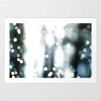 Blur of Light Art Print