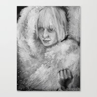 sia Canvas Prints featuring Sia by JenHoney
