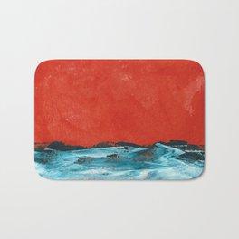 waves #3 Bath Mat