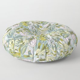 Tropical paradise | Grayish Turquoise Floor Pillow