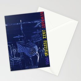 1955 Newport Jazz Festival Vintage Advertisement Poster Newport, Rhode Island Stationery Cards