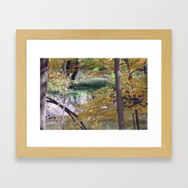 Fall By The Creekside Framed Art Print