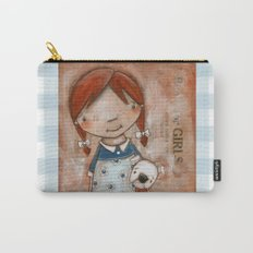 Her Favorite Fella - Red-haired girl and white boxer Carry-All Pouch