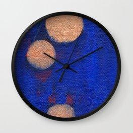 Golden Orbs 1 - Horizontal Wall Clock